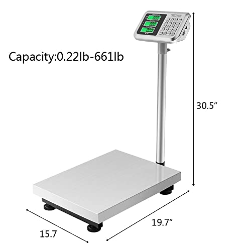f59fb0c5cd0d Buy TUFFIOM 661lbs Weight Electronic Platform Scale,Stainless Steel ...