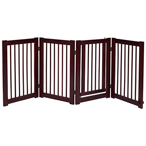 Portable Mesh Folding Safety Fence 43.3 x 28.3 inch Magic Gate Pet Gate for Dogs Pet Isolation Mesh Dog Gate for House Indoor Stair Doorway Use